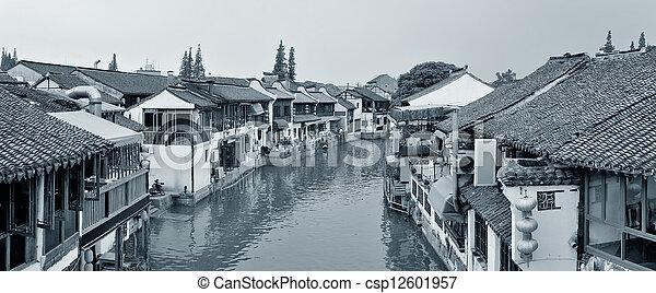 Shanghai rural village - csp12601957