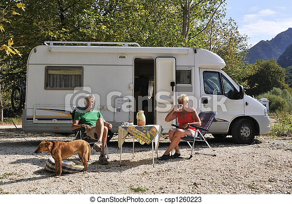 Traveling by mobile home - csp1260223