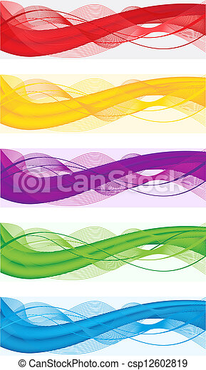 Abstract banners for web header - csp12602819