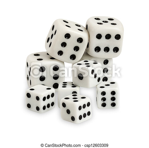 Gambling dices isolated on white background - csp12603309