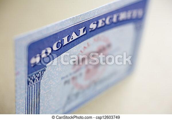 Social Security Card - csp12603749