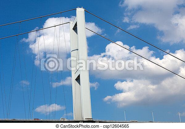 Istambul - Bosporus Bridge connecting Europe and Asia  - csp12604565