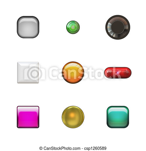 Glassy Buttons Variety Pack - csp1260589