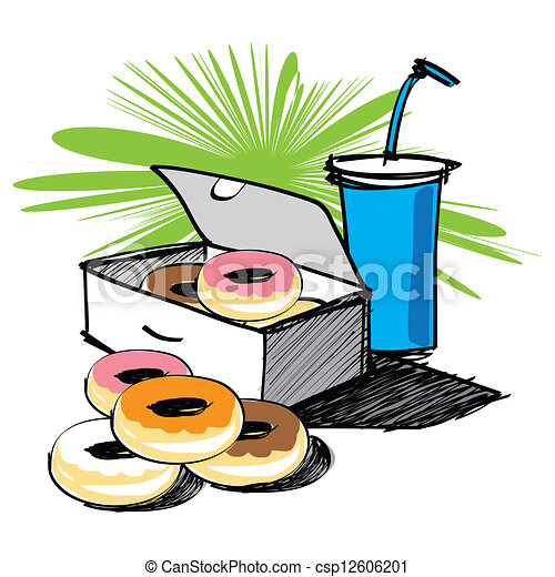 Set of donut vector hand drawn - csp12606201