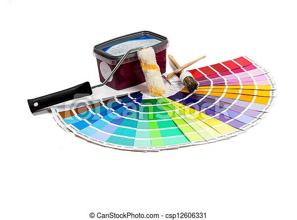 Maler und lackierer clipart  Stockfotos von maler, geräte - bunte, lackierer, geräte ...