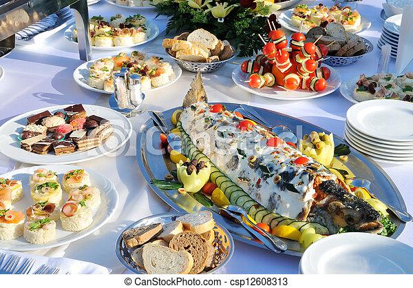 Tasty food on the table  - csp12608313