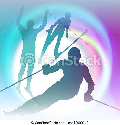 Winter sports festive concept vector illustration - csp12609042