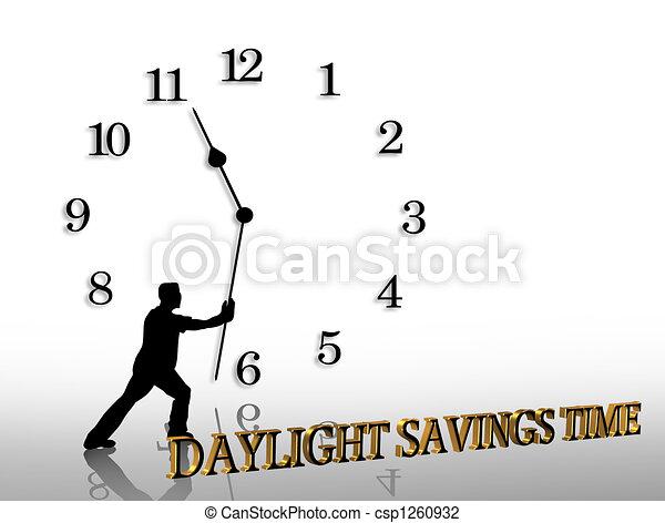 Daylight Savings Time graphic - csp1260932