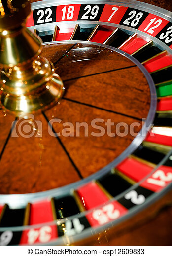 Top view of roulette at the gambling house - csp12609833
