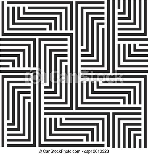 Black and white zigzag pattern - csp12610323