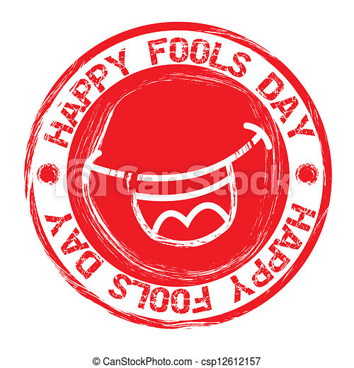 Clipart Vector of april fools day - april foods day seal over ...