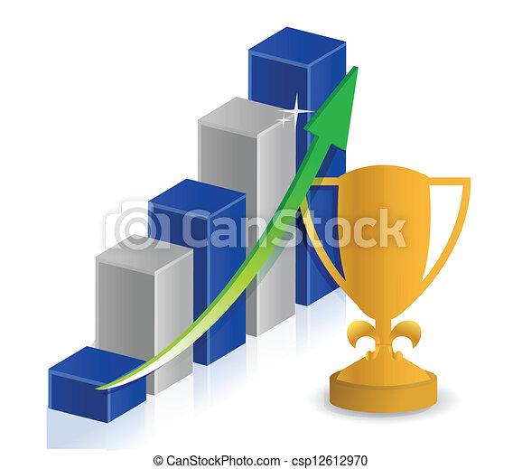 cup success business graph - csp12612970