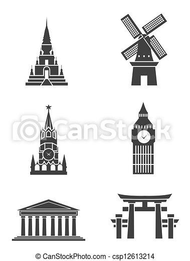 Tourism Sign Symbol set - csp12613214