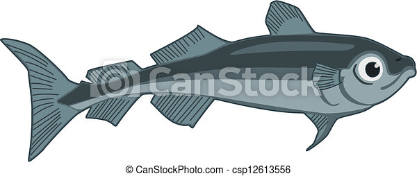 Clipart Vector of Arctic Cod - Vector illustration of an ...