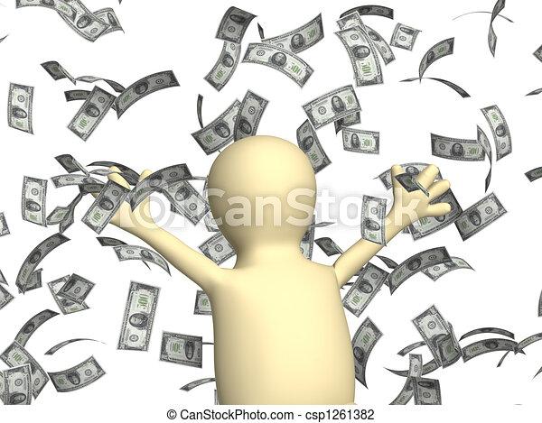 clip art de richesse symbole richesse reussite pluie dollars csp1261382 recherchez. Black Bedroom Furniture Sets. Home Design Ideas