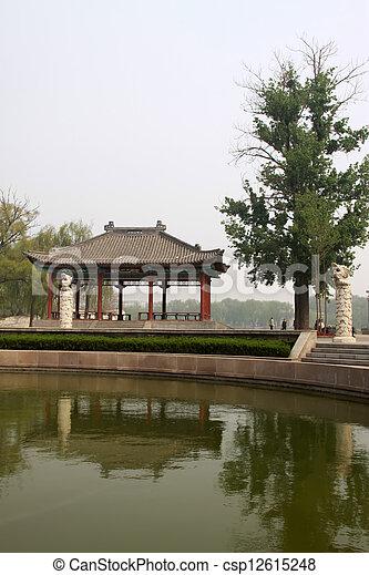 park scenery in spring - csp12615248