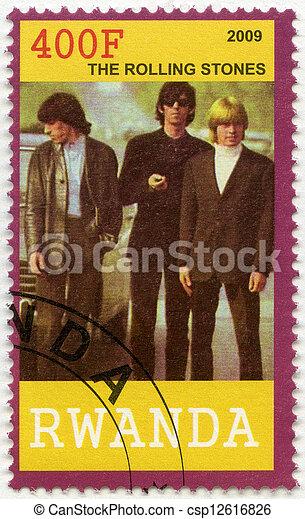 RWANDA - 2009: shows The Rolling Stones - csp12616826