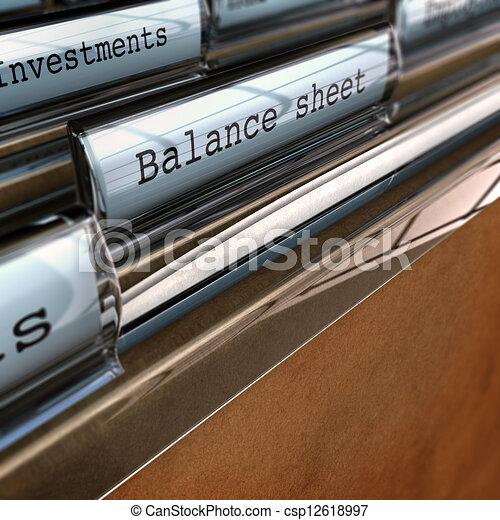 Balance Sheet, Accounting Documents - csp12618997