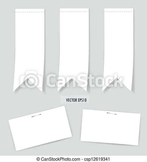 Set of labels with place for text. Vector illustration. - csp12619341