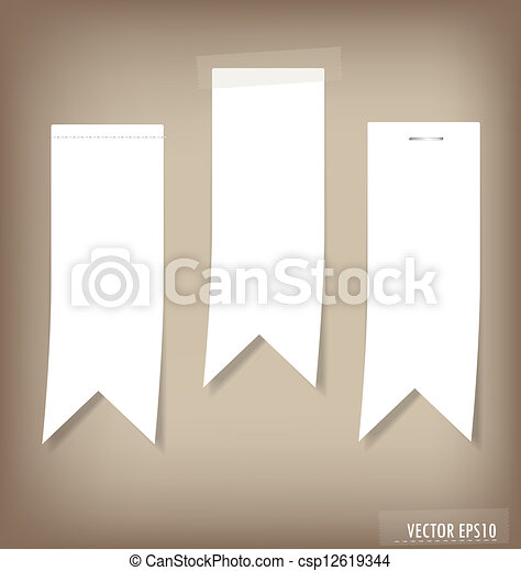 Set of labels with place for text. Vector illustration. - csp12619344