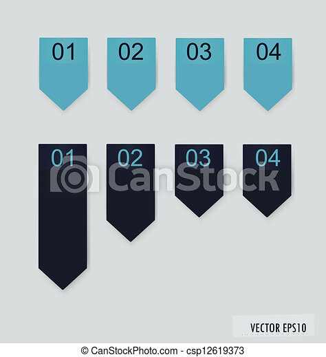 Set of labels with place for text. Vector illustration. - csp12619373