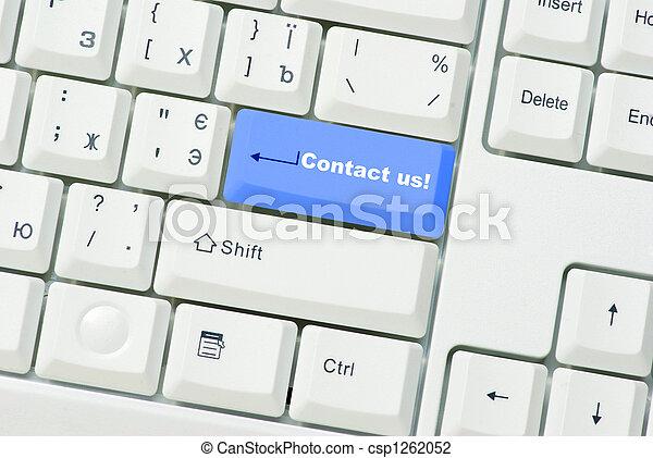 button Contact us - csp1262052