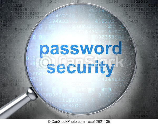 Privacy concept: optical glass with words Password Security - csp12621135