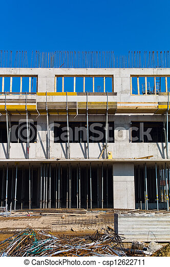 construction of a residential building - csp12622711