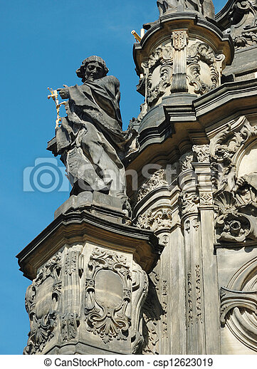 Detail of Holy Trinity Column in Olomouc  - csp12623019