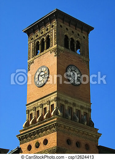 Government Building Clock Tower - csp12624413