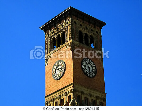 Government Building Clock Tower - csp12624415