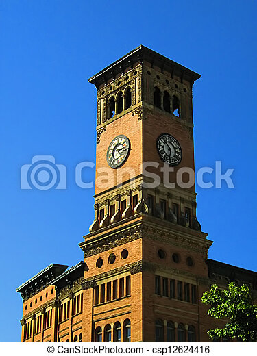 Government Building Clock Tower - csp12624416