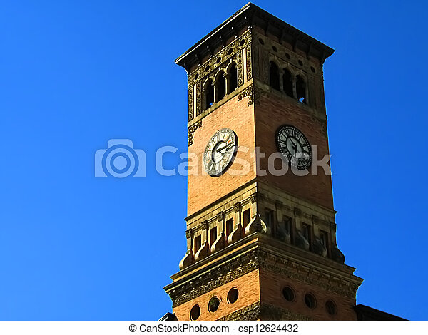 Government Building Clock Tower - csp12624432