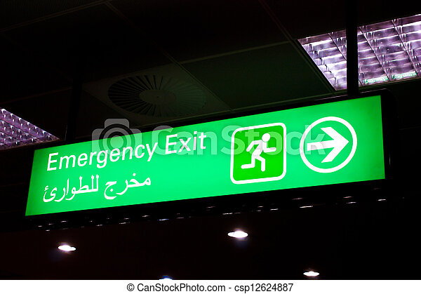 Arabian emergency exit - csp12624887