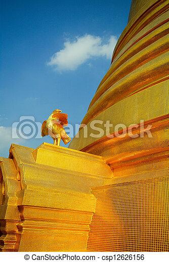 Thailand's gold pagoda landmark - csp12626156