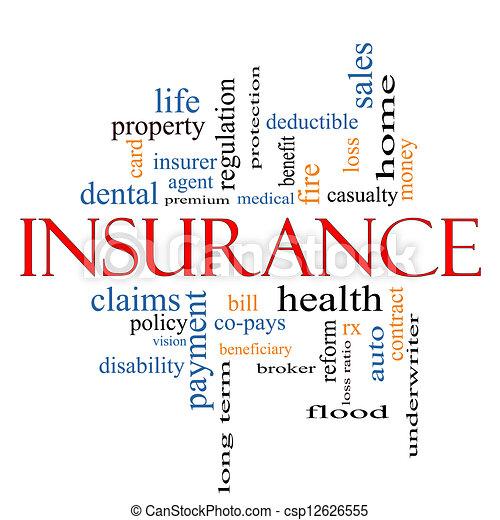 Insurance Word Cloud Concept - csp12626555