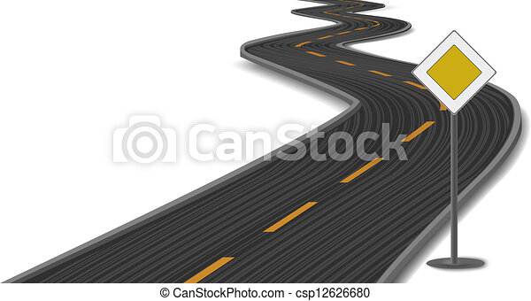 Racing Road Vector Vector Illustration of Road