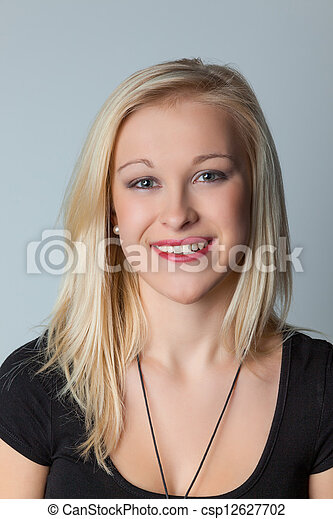 portrait of a young woman - csp12627702