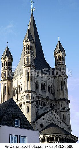 Great St. Martin Church in Cologne - csp12628588