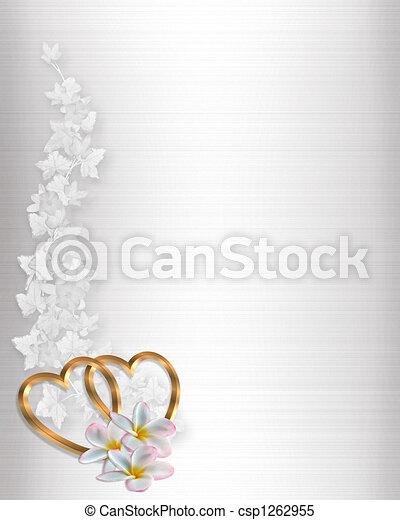Wedding Invitation Border White Sat - csp1262955