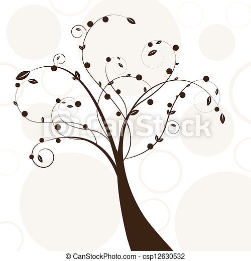 Abstract beautiful tree creative design - csp12630532