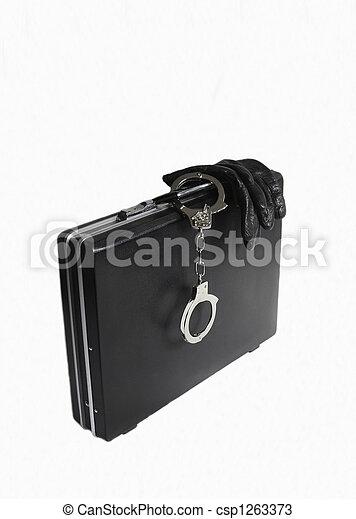 Attache case with attached handcuff - csp1263373