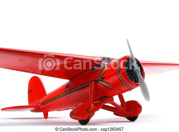 Red toy Aeroplane - csp1263457