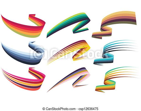 Ribbon design elements - csp12636475