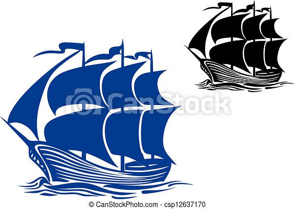 矢量-船, 航行, 双桅帆船 节约费用