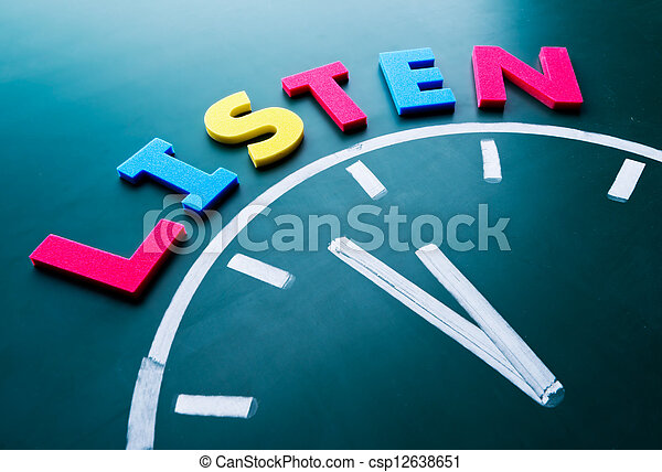 Time to listen concept - csp12638651