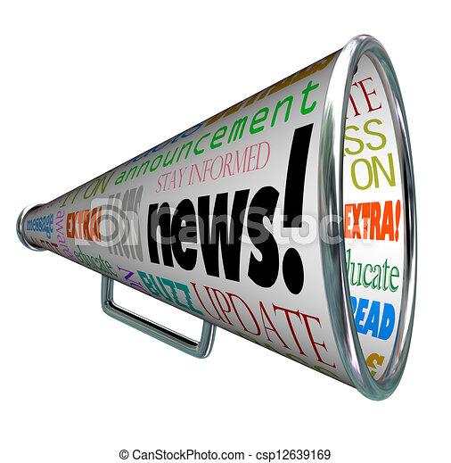 stock illustration of news bullhorn megaphone important News Announcement Clip Art announcement clip art free images