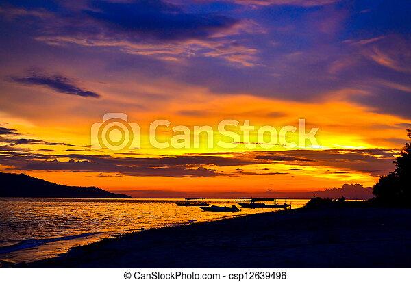 Tropical sunset - csp12639496