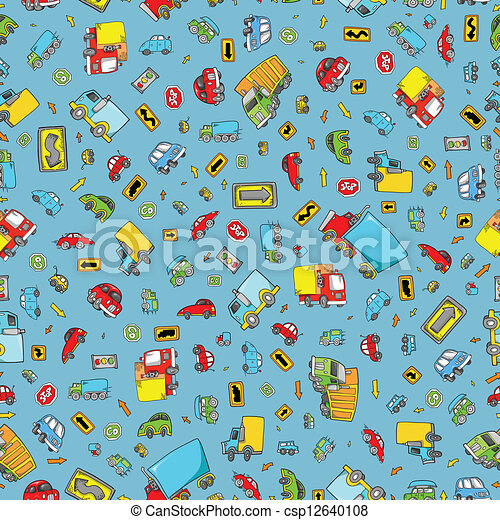 Transportation Seamless Pattern - csp12640108