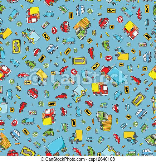 Transportation Seamless Pattern - csp12640108